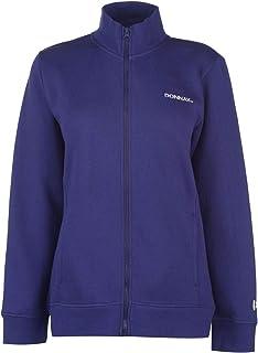 Donnay Womens Full Zip Fleece Ladies Long Sleeve