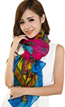 Multi Color Bulgan Design Voile Shawl Scarf Wrap Stole Throw Pashmina CJ Apparel NEW