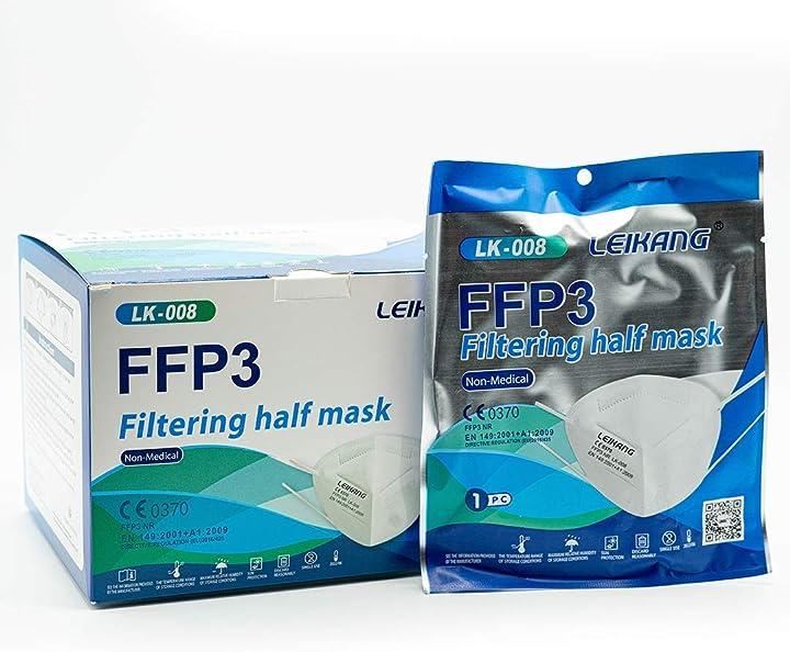 Mascherine ffp3 certificate ce, mascherina 5 strati senza valvola- filtrazione 98% - 20 pezzi yphd YD-003 (20 pack)