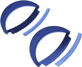 Kuhn Rikon 2-Piece Crinkle Cutter and Mezzaluna Knife Set, Blue