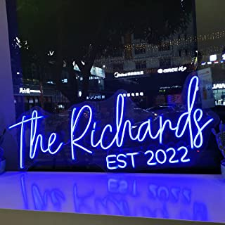 Custom LED Neon Signs, Large Neon Lights Sign for Bedroom Wedding Birthday Party Home Décor Personalized Custom Neon Sign ...