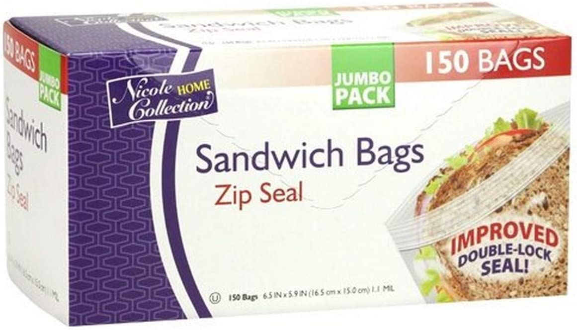 Louisville-Jefferson County Mall Nicole Home Collection Zip Max 58% OFF Seal Sandwich Pack Storag 150 Food of