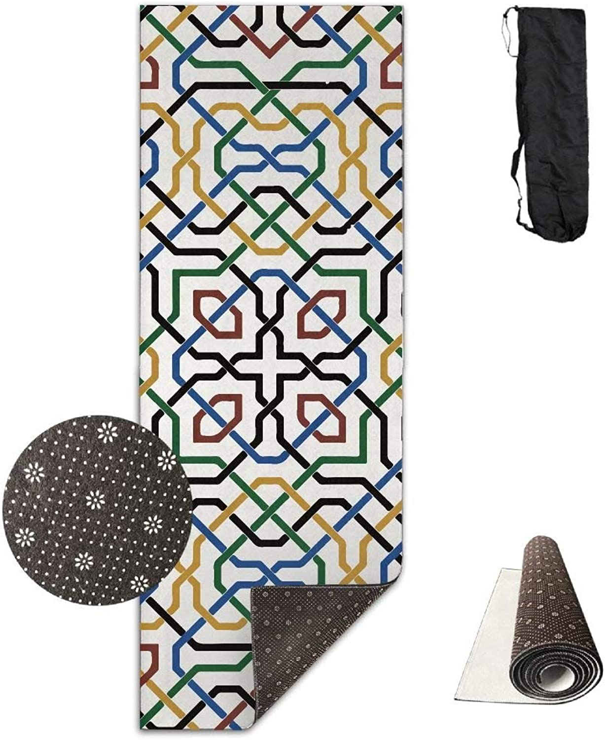 Mgoldcco Pattern Deluxe Yoga Mat Aerobic Exercise Pilates