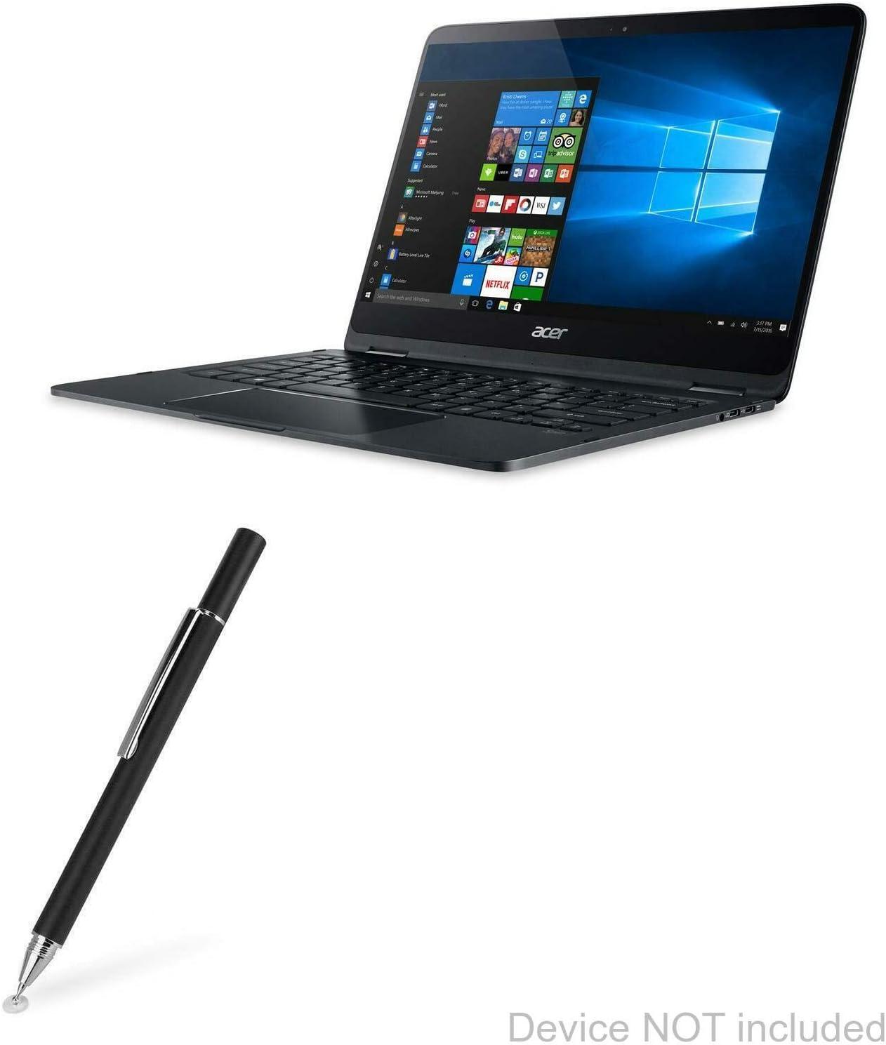 SP714-51 Fiber Tip Capacitive Stylus Pen for Acer Spin 7 BoxWave - Jet Black Acer Spin 7 Stylus Pen SP714-51 EverTouch Capacitive Stylus