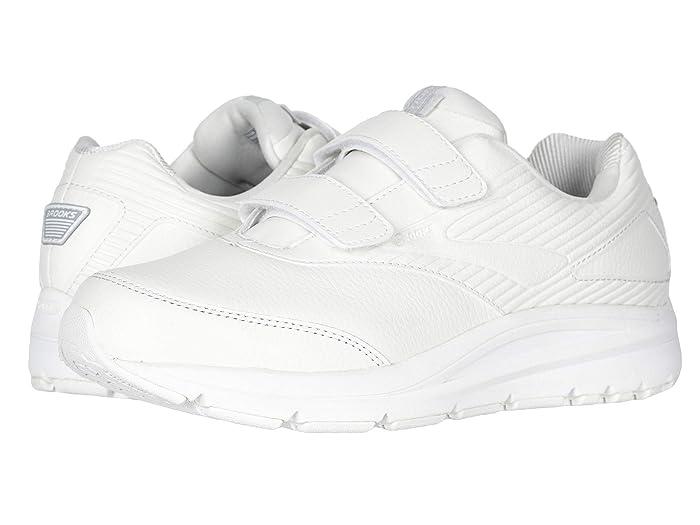 Brooks  Addictiontm Walker V-Strap (White/White) Mens Walking Shoes