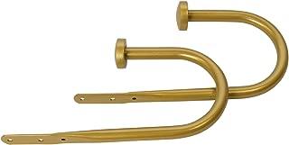 Meriville Set of 2 Decorative Gold End Cap Window Curtain Holdbacks for Draperies