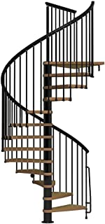 Arke Nice1 Wood Tread Spiral Staircase Kits - 107-1/2