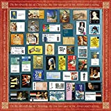 YCYY 45 Mona Lisa Art Ticket Root Stickers Vintage Da Vinci Van Gogh Pegatinas para portátiles móviles a Prueba de Agua
