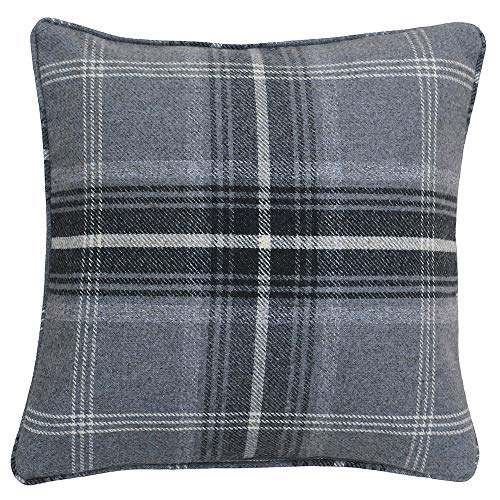 Riva Paoletti Aviemore Cushion Covers, Grey, 45 x 45 cm, Polyester,