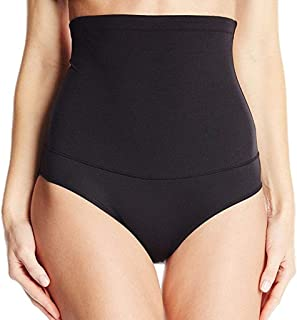 Lazapa Shapewear for Women, Acrylic High Waist Breathable Non-Slip Waist Trainer Smoothers Seamless Shorty Underpants Bodysuit, Black, S-3XL