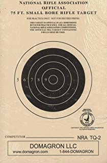 DOMAGRON 75 Foot Smallbore Rifle Target Official NRA Target TQ-2 (100 Pack)