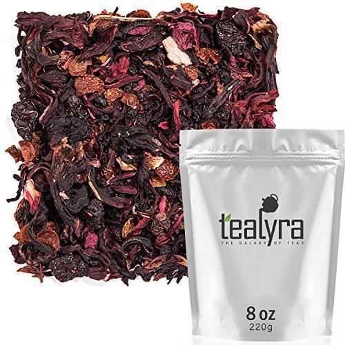 Tealyra - Cherry Goddess - Fruity Herbal Loose Leaf Tea - Caffeine-Free - Vitamin Rich - Hot and Iced - All Natural - 8 ounce