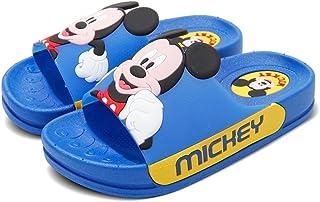 Disney 迪士尼 正品儿童米奇夏季户外防滑玩耍家居浴室洗澡可爱凉拖卡通公主王子小孩居家拖鞋 (海蓝色, 170(适合脚长16CM))