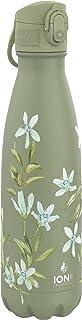 Ion8 Acero Inoxidable Botella Agua, Sin Fugas, 500ml (17oz), Lirio Floral