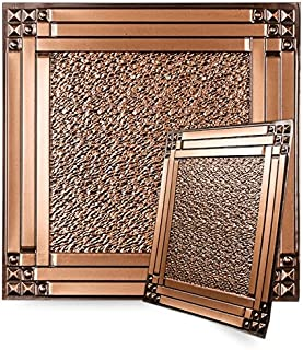 uDecor Genoa Antique Copper 2 ft. x 2 ft. Lay-in or Glue Up Ceiling Tile (Case of 12)