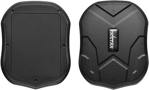 Localizador GPS para Coche, Localizador GPS en Tiempo Real Impermeable Rastreador GPS,Fuerte Imán GPS Tracker para Ve...
