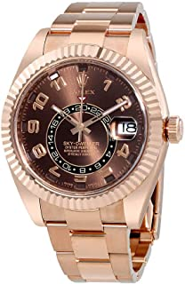 Rolex Sky Dweller Chocolate Dial 18K Everose Gold Rolex Oyster Automatic Mens Watch 326935CHAO