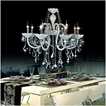 GOWE Modern 8 * 25W*E14 Bulbs D65*H75CM Crystal candle Chandelier Pendant Lamp suspension Light lighting AC 110V/ 240V