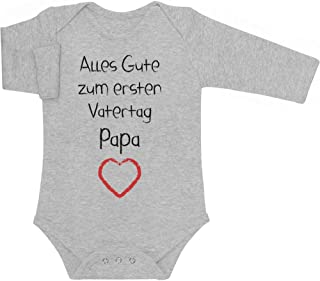Shirtgeil Alles Gute zum ersten Vatertag Papa Herz - Vater Geschenk Langarm Baby Body
