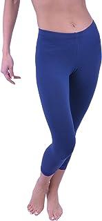 Vivian's Fashions Capri Leggings - Cotton, Lace (Misses and Misses Plus Sizes)