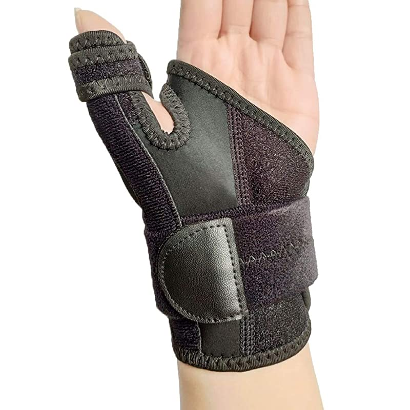近く呼吸タップ調節可能な手の捻挫メンズ?レディース?便利なスポーツ破壊無垢バンド手根管手首のサポートブレースベルト親指Bracer