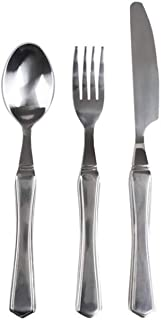 Essential Medical Supply Heavy Duty 7oz Weighted Utensil Set with Fork, Knife and Spoon
