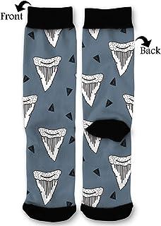 Women's Men's Fun Novelty Crazy Crew Socks Shark Tooth Week Dress Socks