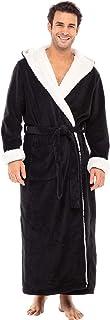 Alexander Del Rossa Men's Robe with Hood - Premium Fleece Bathrobe, Big and Tall, Big and Tall Bathrobe