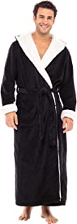 Men's Warm Fleece Robe with Hood, Plush Sherpa Big and...
