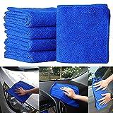 5 Unids/Set Paño de Secado de Limpieza de Automóviles Paños Suaves Accesorios para el Coche Limpio para el Hogar 25 Cm * 25 Cm Lavado de Autos Espesar Toalla de Microfibra