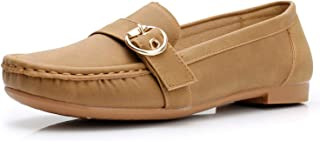 Apakowa Women's Flat Loafers Slip On Comfort Walking Shoes Ladies Casual Shoes