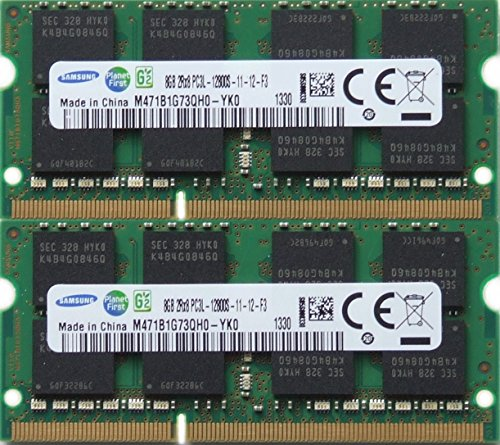 Samsung ram Memory Upgrade DDR3 PC3 12800, 1600MHz, 204 PIN, SODIMM voor 2012 Apple Macbook Pro's, 2012 iMac, en 2011/2012 Mac mini's 16GB kit (2 x 8GB)