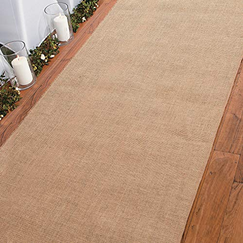 BURLAP AISLE RUNNER 3FT X 50FT - Party Decor - 1 Piece