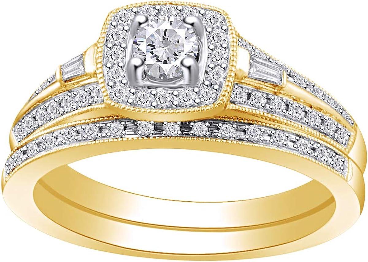 1 2 Sales Cttw Womens Round Natural Halo Ri Wedding Engagement Diamond Sale