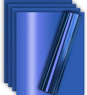 Royal Blue Metallic Foil HTV Heat Transfer Vinyl for Tshirt and Apparel 12