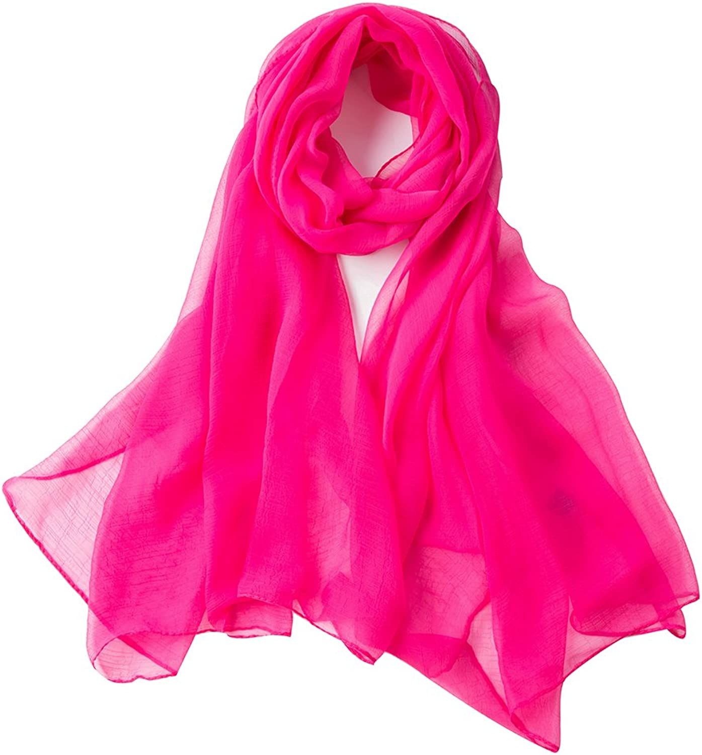 Fashion folding lightweight silky solid colors scarves for women oblong shawl