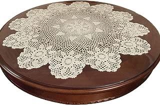 Laivigo New Handmade Crochet Lace Round Table Cloth Doilies Doily,24 Inch,Beige