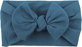 YWSZJ Baby Girl Nylon Bandeaux Nouveau-né Infant Toddler Hairbands Enfants Arcs Pétale Fleur noué Doux Headwrap Accessoire...