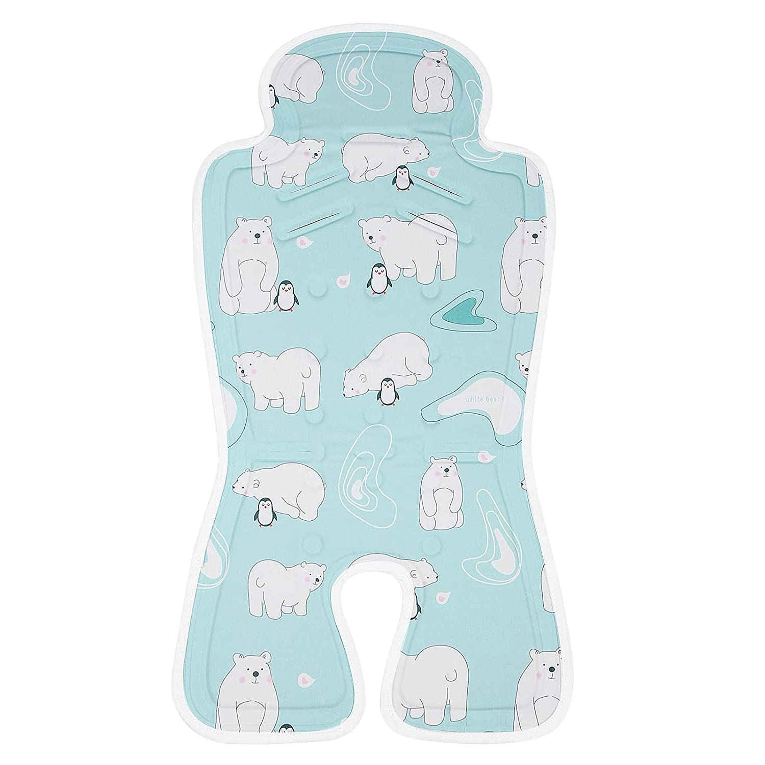 Stroller Gel ice pad Keeps Baby Cool for a Summer, Suitable for 0-36 Months, Non-Slip, Breathable, Washable, Blue Classic.