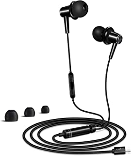 TRILINK USB Tipo C Auriculares de botón para Huawei P30/P30 Pro, P20/P20 Pro, Mate 20/Mate 20 Pro/Mate 20 X/Mate 20 RS, Mate 10/Mate 10 Pro/Mate 10 RS Solamente, micrófono y Control de Volume