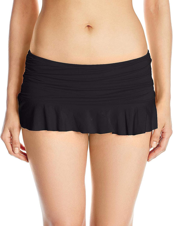 La Blanca Women's Island Goddess Skirted Ruffle Hipster Bikini Swimsuit Bottom