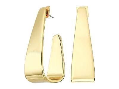 Vince Camuto J-Hoop Earrings (Gold) Earring