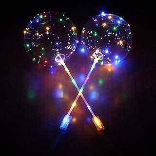 GlobalDeal 18 Inch Luminous LED Balloon Transparent Round Bubble Party Wedding Decoration - Multicolor