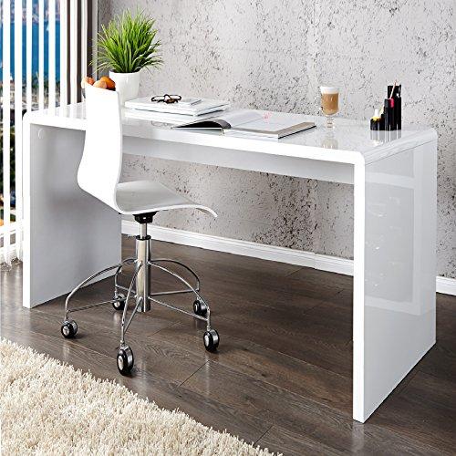 Invicta Interior Design Schreibtisch Fast Trade Hochglanz weiß 120cm Computertisch Bürotisch Tisch