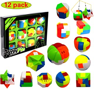 12 Pack Puzzle Balls-Fidget Brain Teaser Puzzles-Party Favors Toys for Kids-Treasure Box Prize,Goody Bag Fillers,Carnival Prizes,Pinata Filler,Classroom Rewards Prizes