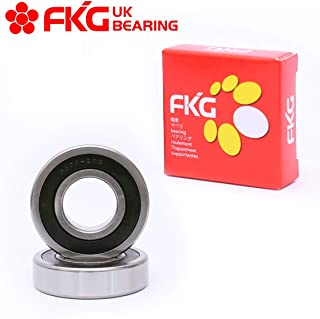 FKG 6308-2RS 40x90x23mm Deep Groove Ball Bearing Double Rubber Seal Bearings Pre-Lubricated 2 Pcs