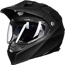 ILM Off Road Motorcycle Dual Sport Helmet Full Face Sun Visor Dirt Bike ATV Motocross Casco DOT Certified (M, Matte Black)