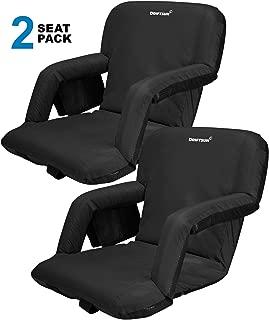 Driftsun Reclining Stadium Seat, Bleacher Chair with Back Support, Folding Sport Chair Reclines Perfect for Bleachers Lawns and Backyards