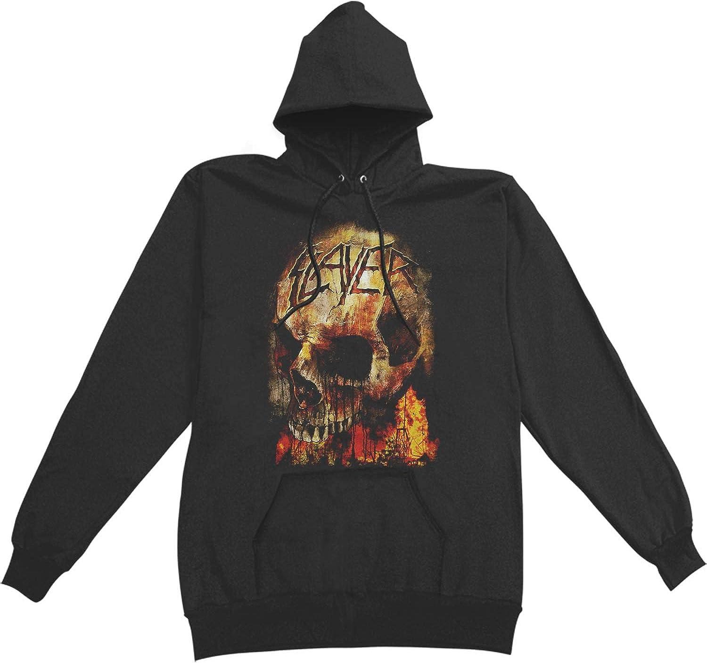 Slayer Men's Fire Skull Black Hooded San Max 81% OFF Jose Mall Sweatshirt