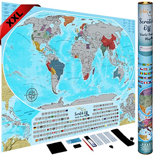 XXL Scratch Off Map of The World - 36
